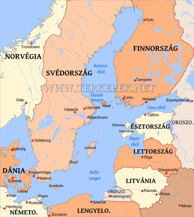 finnország térkép Balti tenger térképe finnország térkép