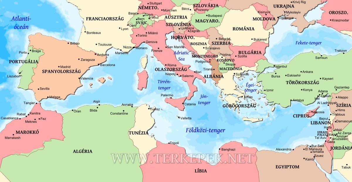 görögország térkép magyarul Földközi tenger térképe görögország térkép magyarul