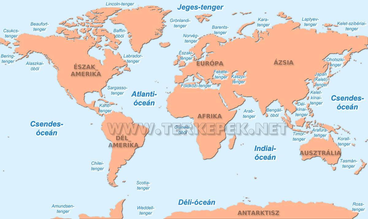 földközi tenger térkép A Föld óceánjai és legnagyobb tengerei földközi tenger térkép